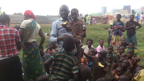 Muliika visit the street children january 2015